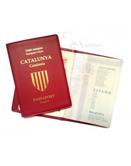 Funda pasaporte catalán