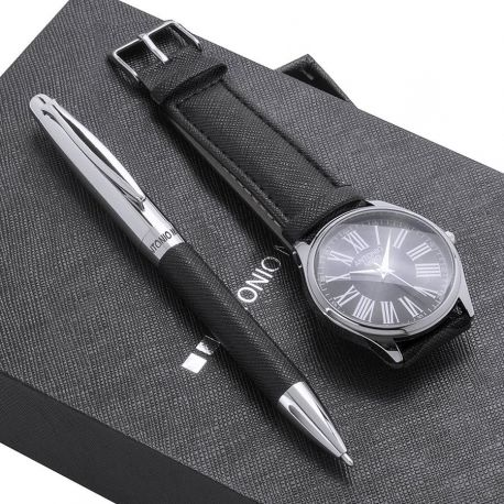 Antonio Miró watch and pen set