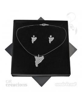 Pack pendant and earrings CatCreacions