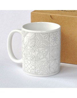 Taza para pintar 'Hidraulicat'