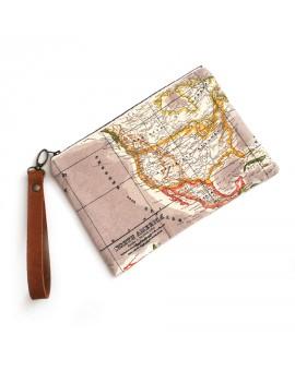 World map handbag