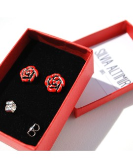 Rosa Sant Jordi earrings