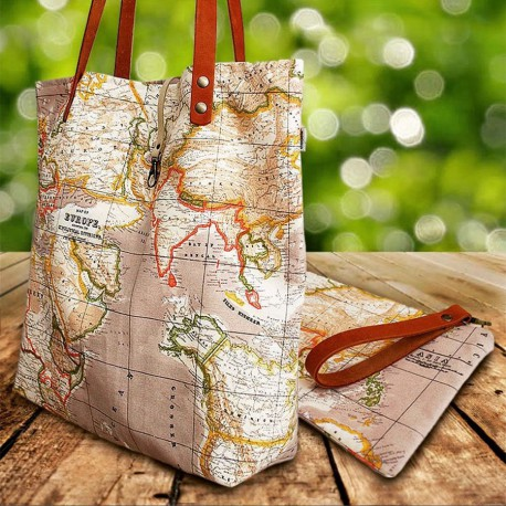 World map totebag