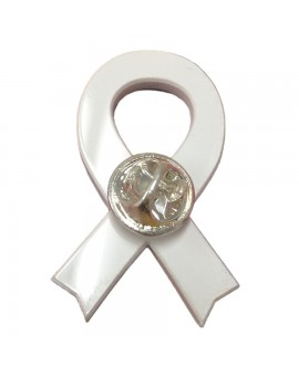 Yellow ribbon pin
