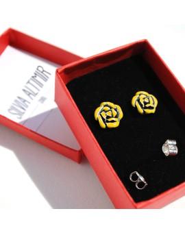 Rosa Sant Jordi earrings