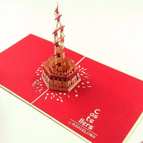 Postals 3D Castellers